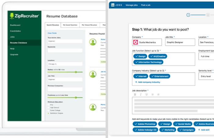 Zip Recruiter Vs LinkedIn